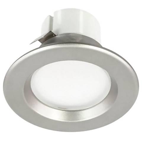 """50W Replacement 3"""" Nickel 8 Watt LED Remodel Recessed Trim"""