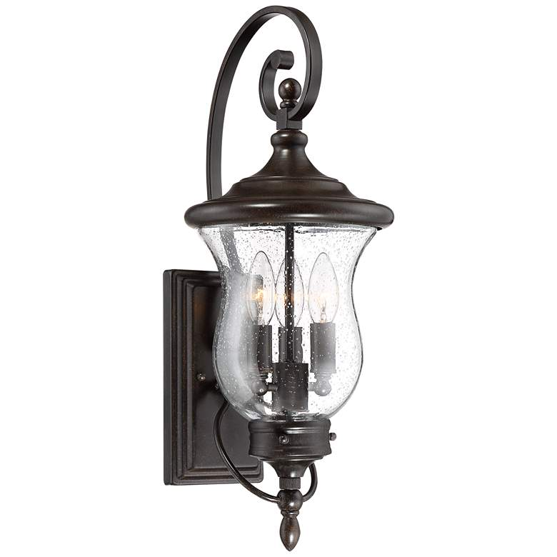 """Carriage 22"""" High Bronze LED Outdoor Wall Light"""