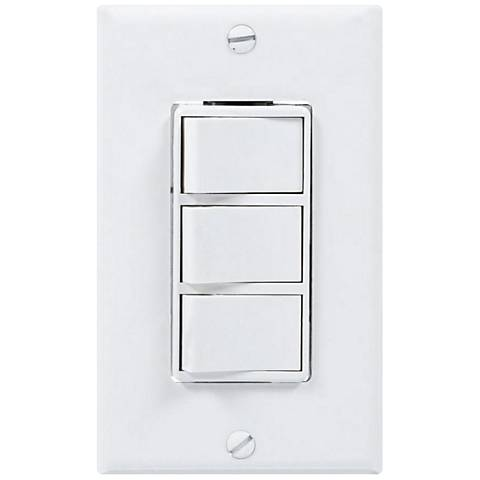 White 3-Rocker 4-Function Wall Switch