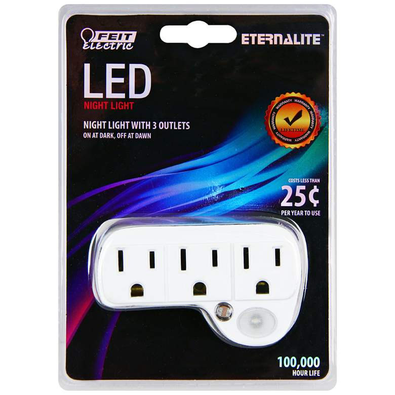 LED Night Light with Outlets