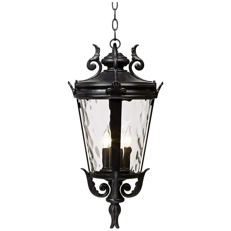 "Casa Marseille™ 23 3/4"" High Black Outdoor Hanging Light"
