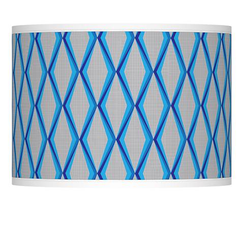 Bleu Matrix Giclee Lamp Shade 13.5x13.5x10 (Spider)