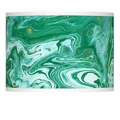 Green lamp shades lamps plus malachite giclee lamp shade 135x135x10 spider aloadofball Image collections