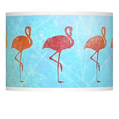 Giclee glow lamp shades lamps plus flamingo shade giclee lamp shade 135x135x10 spider aloadofball Gallery