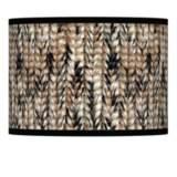 Braided Jute Giclee Lamp Shade 13.5x13.5x10 (Spider)