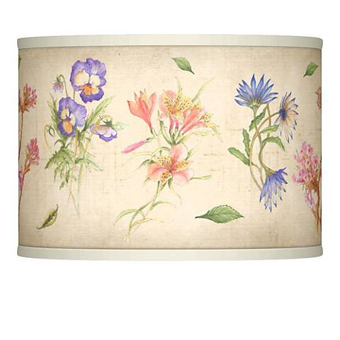 Floral Fancy Giclee Glow Lamp Shade 13.5x13.5x10 (Spider)