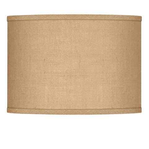 Woven Burlap Lamp Shade 13.5x13.5x10 (Spider)