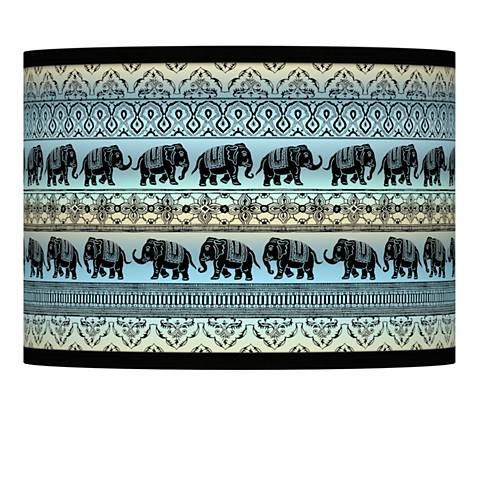 Elephant march giclee lamp shade 135x135x10 spider 37869 elephant march giclee lamp shade 135x135x10 spider aloadofball Choice Image