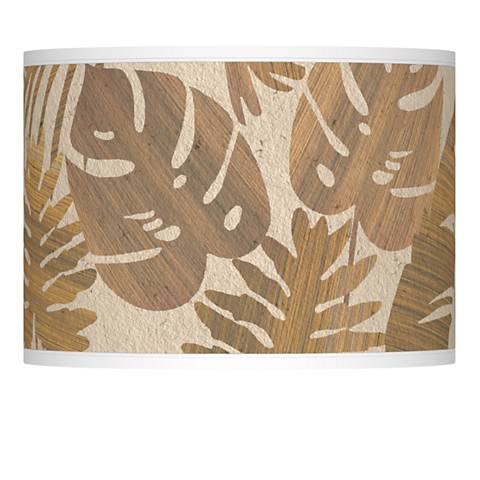 Tropical Woodwork Giclee Lamp Shade 13.5x13.5x10 (Spider)