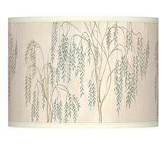Country cottage lamp shades lamps plus weeping willow giclee lamp shade 135x135x10 spider aloadofball Gallery