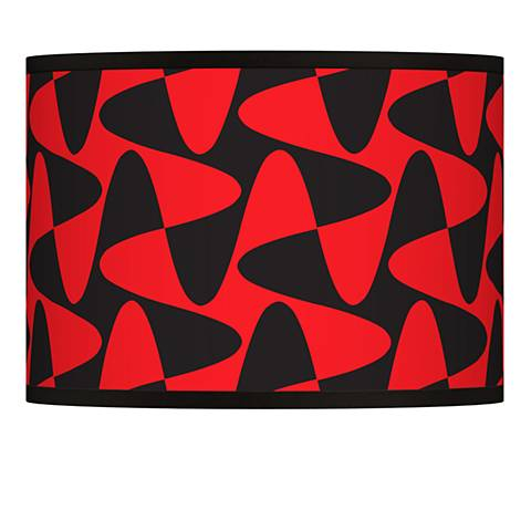 Rockabilly Waves Giclee Lamp Shade 13.5x13.5x10 (Spider)