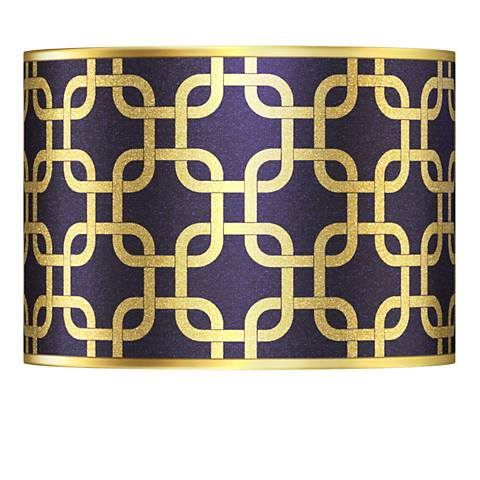 Lattice Gold Metallic Giclee Lamp Shade 13.5x13.5x10 (Spider