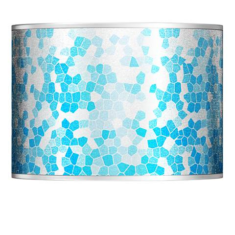 Mosaic Silver Metallic Giclee Lamp Shade 13.5x13.5x10 (Spider)