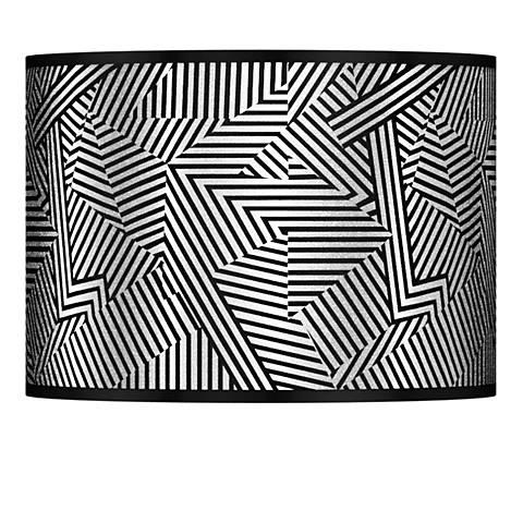 Labyrinth Silver Metallic Giclee Lamp Shade 13.5x13.5x10 (Spider)