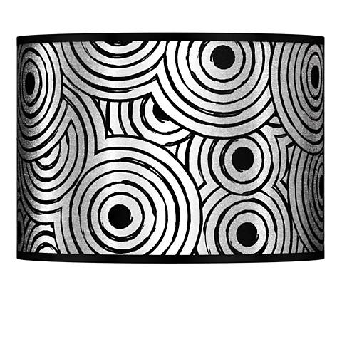 Circle Daze Silver Metallic Lamp Shade 13.5x13.5x10 (Spider)