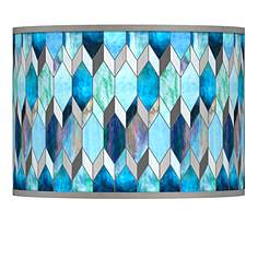 Giclee glow lamp shades lamps plus blue tiffany style giclee lamp shade 135x135x10 spider aloadofball Gallery