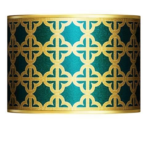Four Corners Gold Metallic Lamp Shade 13.5x13.5x10 (Spider)