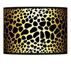 Giclee glow lamp shades lamps plus leopard gold metallic giclee lamp shade 135x135x10 spider aloadofball Gallery