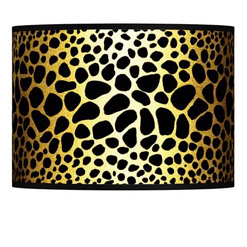 Leopard Gold Metallic Giclee Lamp Shade 13.5x13.5x10 (Spider)