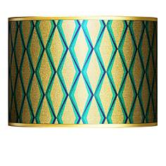 Gold lamp shades lamps plus matrix gold metallic giclee lamp shade 135x135x10 spider aloadofball Gallery