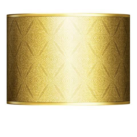 Moroccan Diamonds Gold Metallic Lamp Shade 13.5x13.5x10 (Spider)
