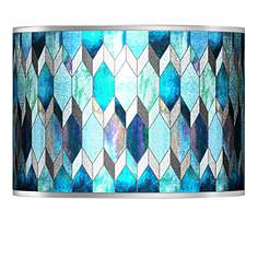 Blue lamp shades lamps plus blue tiffany style silver metallic shade 135x135x10 spider aloadofball Choice Image