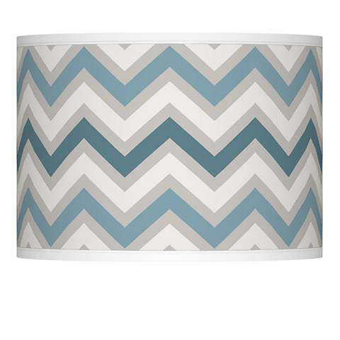 Wave Zig Zag Giclee Lamp Shade 13.5x13.5x10 (Spider)