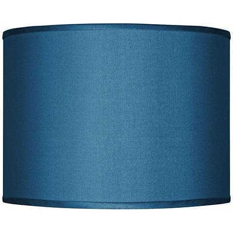 Blue Faux Silk Lamp Shade 13.5x13.5x10 (Spider)