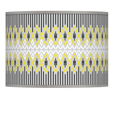 Desert Geometric Giclee Lamp Shade 13.5x13.5x10 (Spider)
