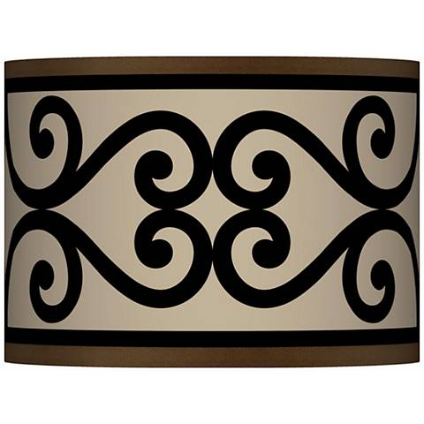 Cambria Scroll Giclee Lamp Shade 13.5x13.5x10 (Spider)