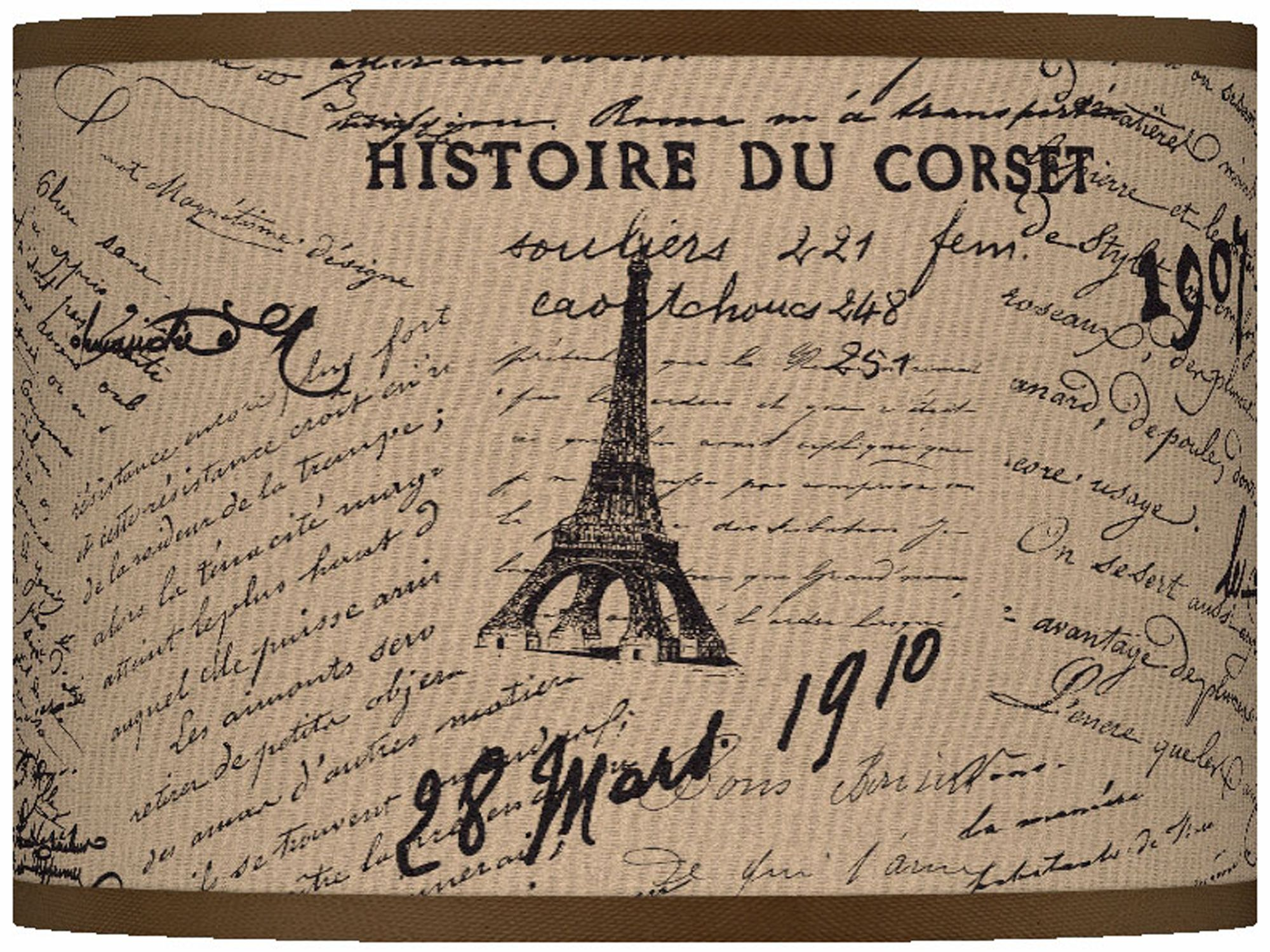 Letters To Paris Giclee Lamp Shade 13.5x13.5x10 (Spider)