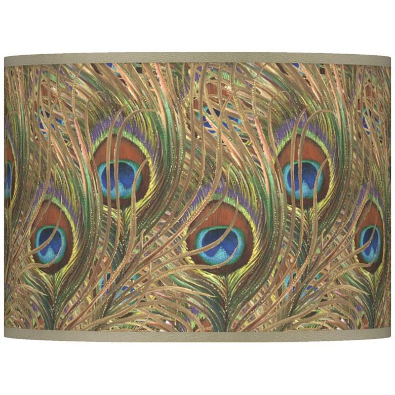 Iridescent Feather Giclee Lamp Shade 13.5x13.5x10 (Spider)