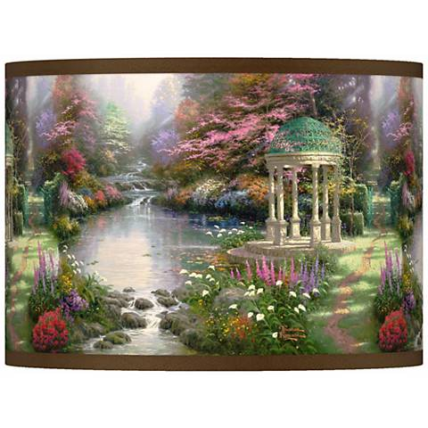 Thomas Kinkade The Garden of Prayer Shade 13.5x13.5x10