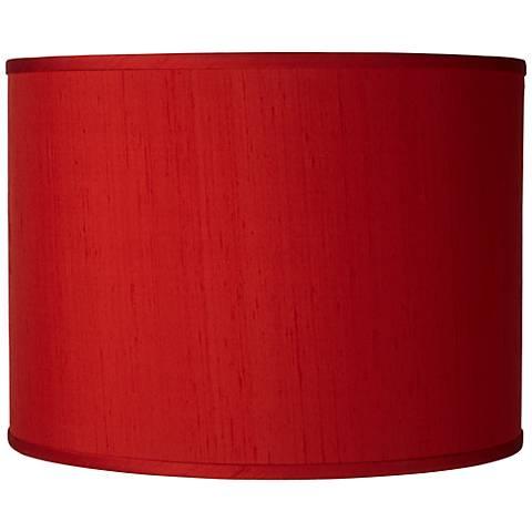 China Red Silk Dupioni Shade 13.5X13.5X10 (Spider)