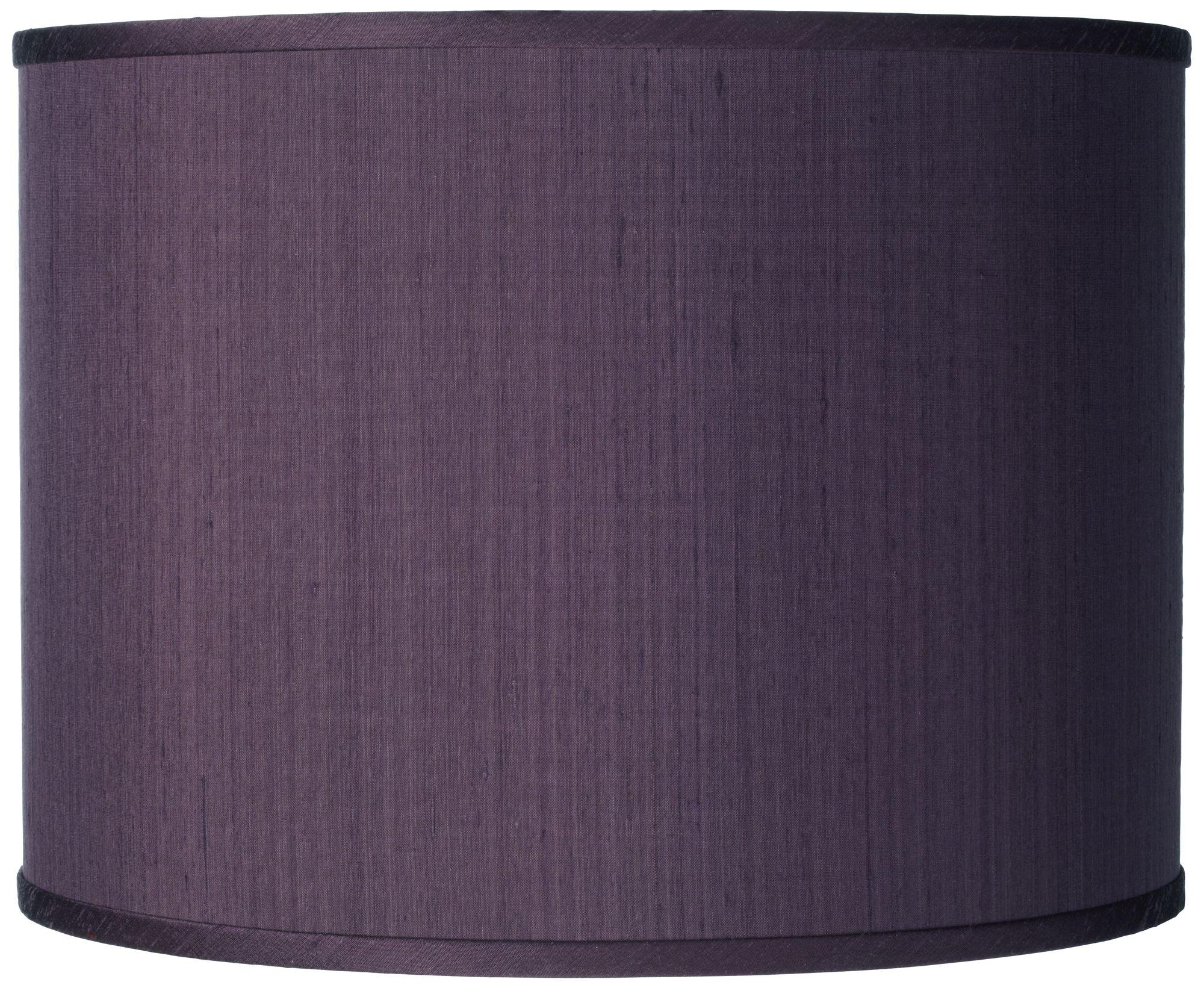 Eggplant Faux Silk Drum Shade 13.5X13.5X10 (Spider)