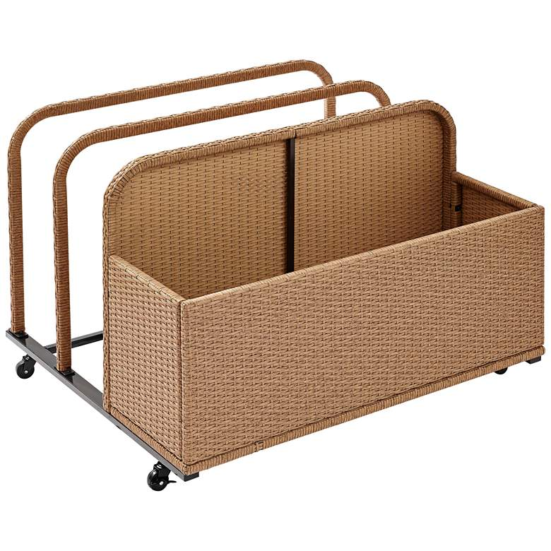 Palm Harbor Light Brown Outdoor Wicker Float Caddy
