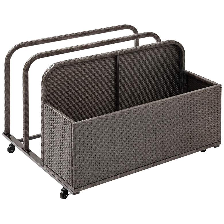 Palm Harbor Gray Outdoor Wicker Float Caddy