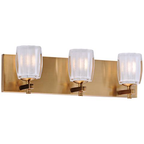 "Maxim Bravado 19"" Wide Golden Bronze 3-LED Bath Light"