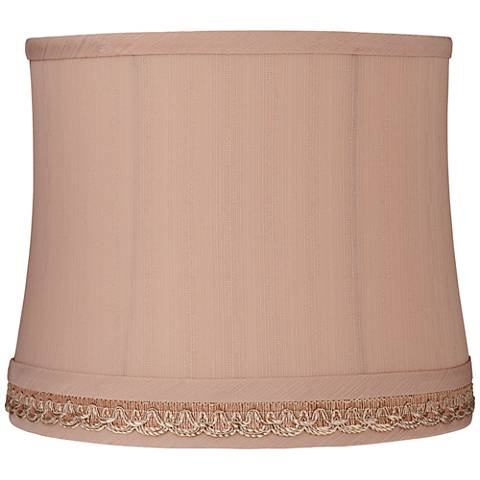 Oval lamp shades lamps plus fitto taupe gallery drum lamp shade 11x12x10 spider aloadofball Gallery
