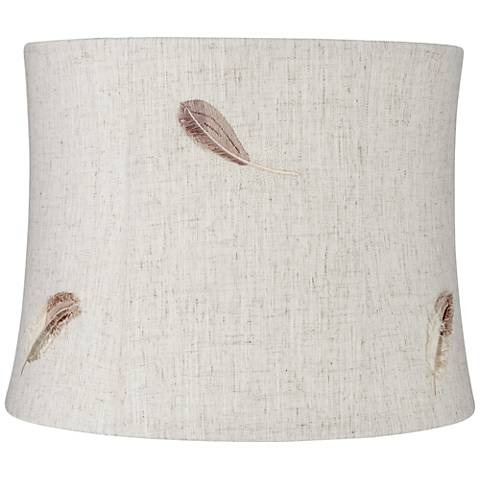 Swift Nature Feather Lamp Drum Shade 12x13x10 (Spider)