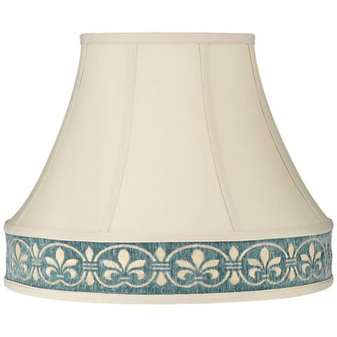 French Beige Round Bell Lamp Shade 9x17x14 (Spider)
