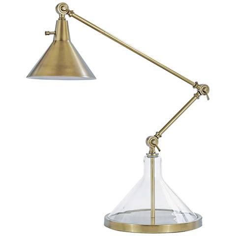 Regina Andrew Funnel Beaker Natural Brass Desk Lamp