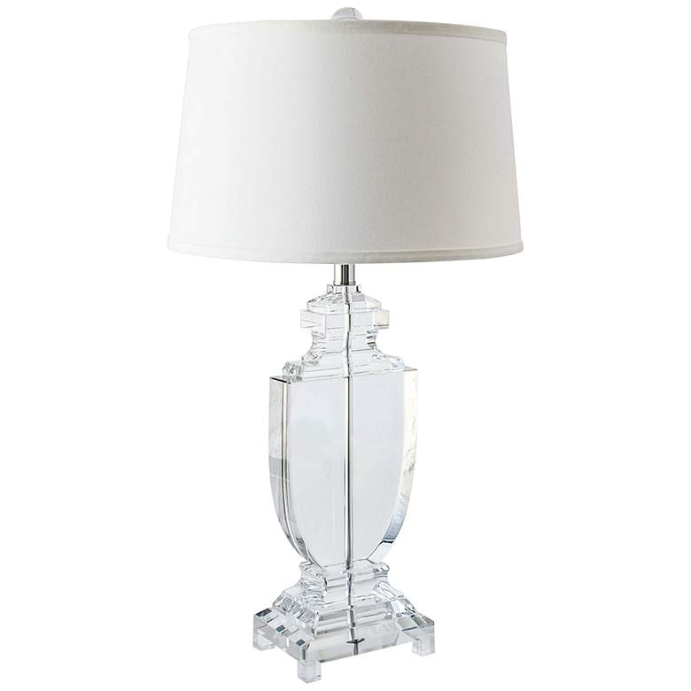 Regina Andrew Carr Crystal Flat Urn Table Lamp