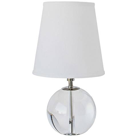 """Regina Andrew Lynch Crystal Sphere 15""""H Accent Table Lamp"""