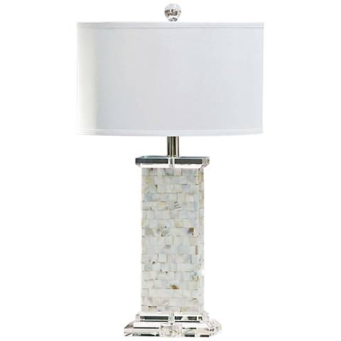 Regina Andrew Brook Mother of Pearl Table Lamp