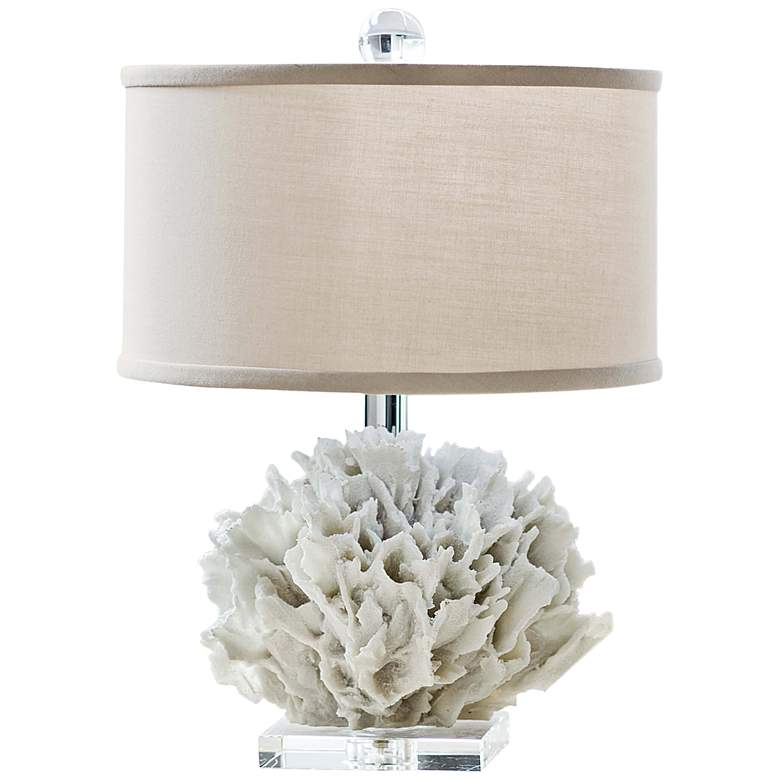 """Regina Andrew Ribbon Coral 16 1/2""""H Accent Table Lamp"""