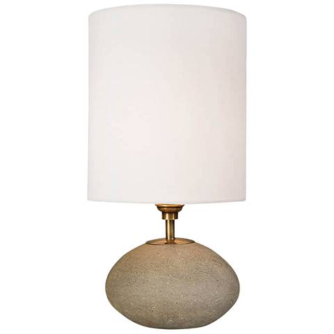 "Regina Andrew Gareon Concrete Orb 16"" High Accent Table Lamp"