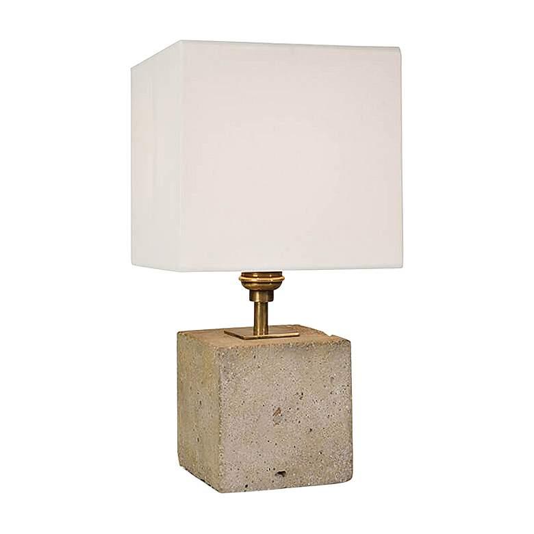 "Gareon Concrete Cube 13 1/2""H Accent Table Lamp"