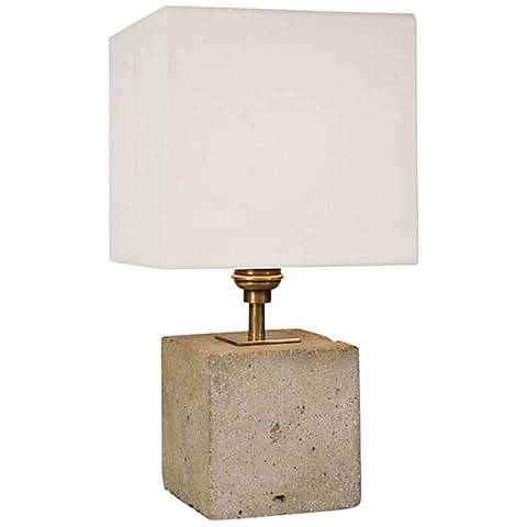 "Gareon Concrete Cube 13 1/2""H Accent Table Lamp"