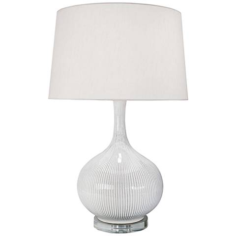 Regina Andrew Irvin Hand-Dipped Ivory Ceramic Table Lamp